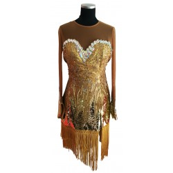 Gold fringe Latin