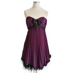 Purple pleat short