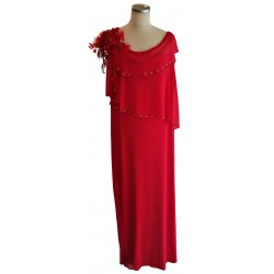 Red 3 layer drape