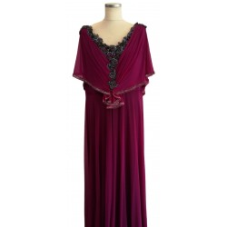 Purple cape sleeve
