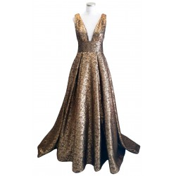 Gold and black Ballgown