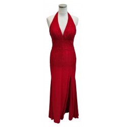 Red halter neck with red...