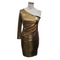 Gold 1 long sleeve short dress