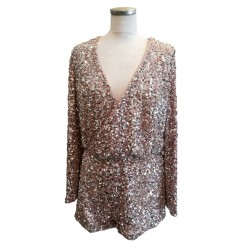 Pink sequin bodysuit