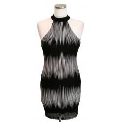 Black & white high neck short