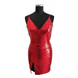 Red sequin short