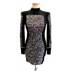 Black velvet & sequins with...