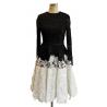 Black lace bodice white skirt short
