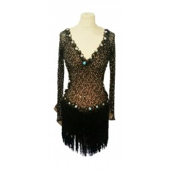 Black with gold sleeved latin