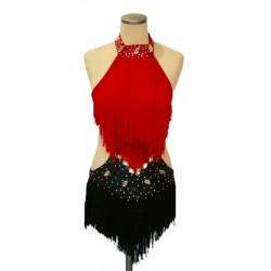 Black & red fringe latin